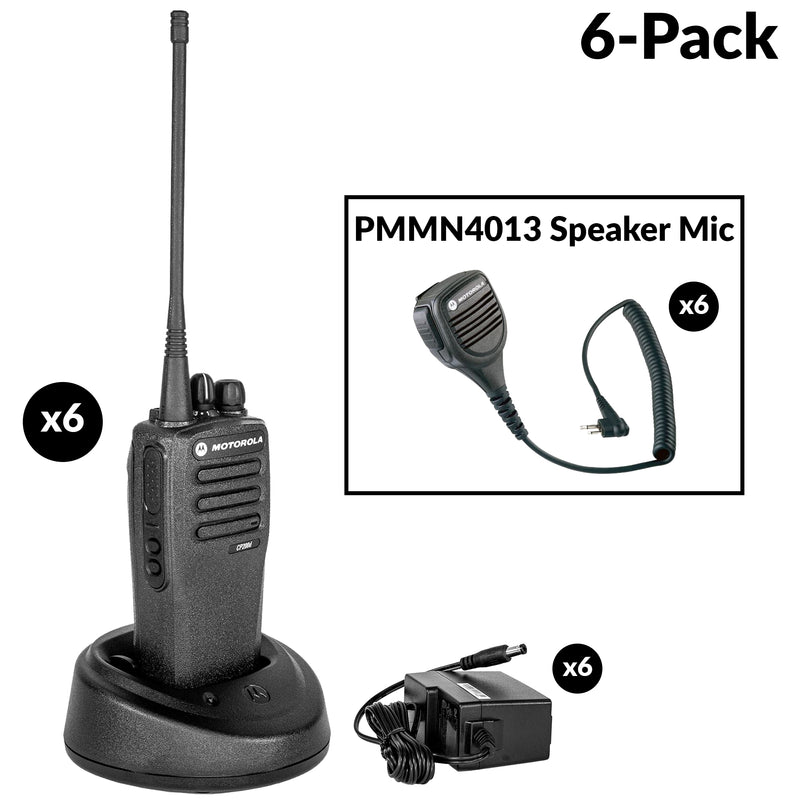 CP200D 6 radio bundle with PMMN4013 mic