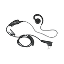 Motorola-Accessory-HKLN4604 Earpiece-Motorola HKLN4604 Swivel Earpiece with In-Line Mic and PTT, Slim Plug-Radio Depot