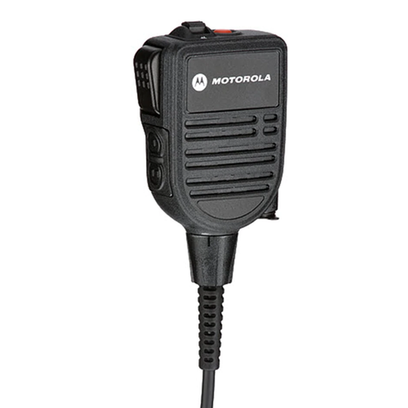 Motorola-Accessory-HMN4101 Remote Speaker Microphone-IMPRES RSM with Audio Jack, Volume Control, 2 Programmable Buttons, Orange Emergency Button, Windporting, Rugged, Submersible (IP68) Fits APX900, APX3000, APX4000, APX6000, APX6000XE, APX7000, APX7000XE, APX8000, APX8000XE and SRX2200 Radios.-Radio Depot