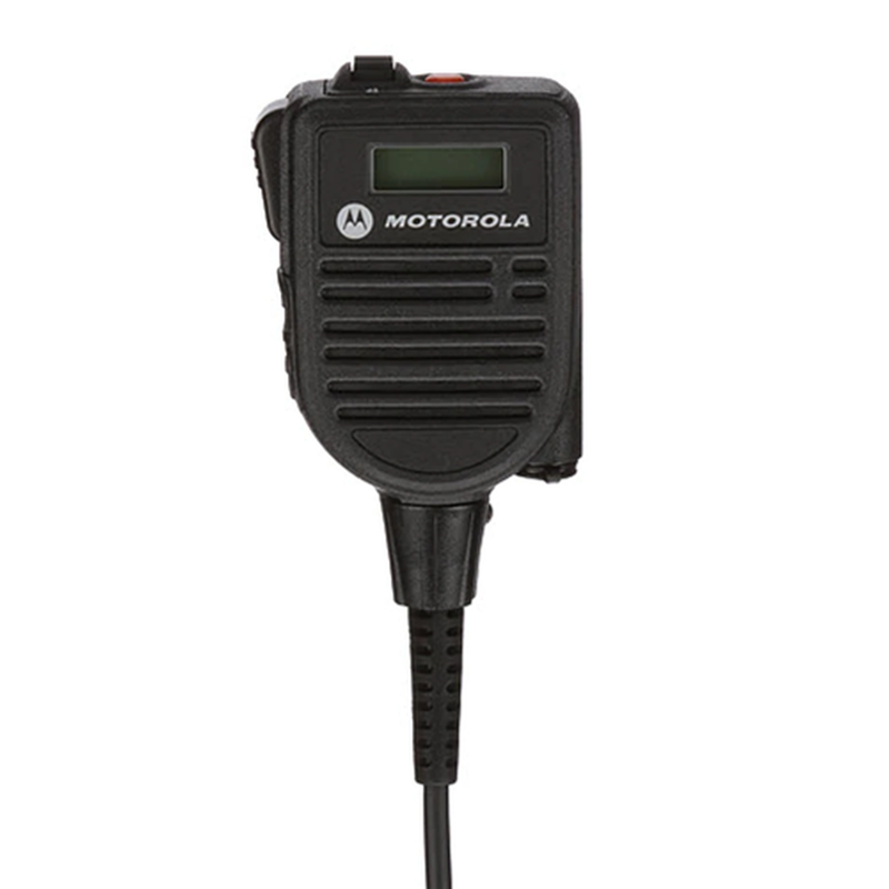 Motorola-Accessory-HMN4103 Remote Speaker Microphone-IMPRES Display RSM with Audio Jack, Volume Control, 2 Programmable Buttons, Orange Emergency Button, Windporting, Rugged, Submersible (IP68) Fits APX900, APX3000, APX4000, APX6000, APX6000XE, APX7000, APX7000XE, APX8000, APX8000XE and SRX2200 Radios.-Radio Depot