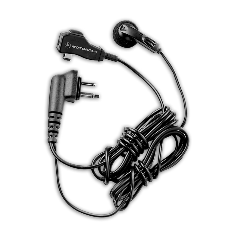 Motorola-Accessory-HMN8435 Earbud-Motorola HMN8435 Earbud with Clip Microphone and PTT, 2-Wire-Radio Depot
