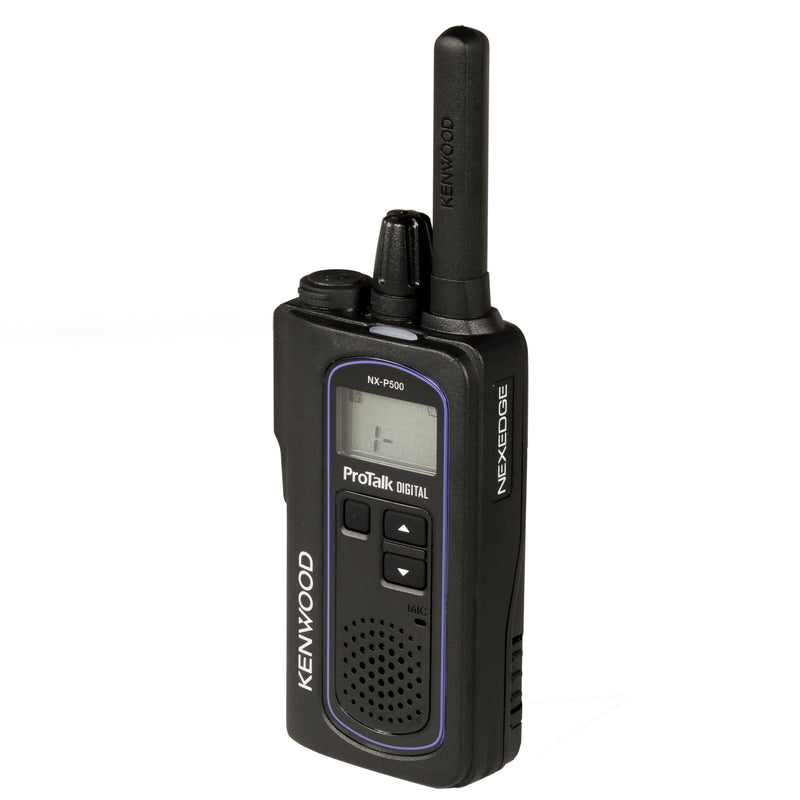 Kenwood NX-P500 two-way radio. Front right side of the radio.