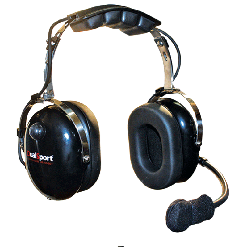 Klein Electronics-Accessory-DualSport Headset-Klein Electronics DualSport High Noise Headset Available in Black Dual Muff, Over-the-Head design, 24dB Noise Reduction Rating (NRR), Noise Canceling Flex Boom Microphone, Earshell PTTNote: Requires a K-Cord Radio Cord for Proper Operation-Radio Depot