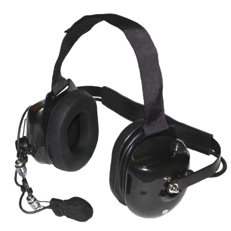 Klein Electronics-Accessory-Titan Headset-Klein Electronics Titan High Noise Headset Available in Black and Red Dual Muff, Behind the Head design can be used with a hard hat, 25dB Noise Reduction Rating (NRR), Noise Canceling Mechanical Boom Microphone, Earshell PTT.Note: Requires a K-Cord Radio Cord for Proper Operation-Radio Depot