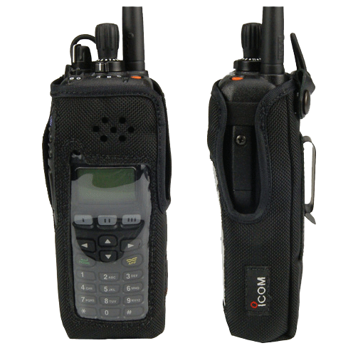 Icom-Accessory-ICOM LCF9011T SWIVEL Carry Case-ICOM LCF9011T SWIVEL Carry Case, Leather with swivel clip and cutout for display and DTMF keypad equipped radios. Radio shown not included.-Radio Depot