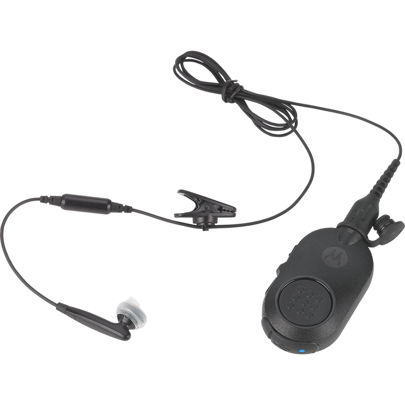 "Motorola-Accessory-NNTN8295 Operations Critical Wireless Earbud-Operations Critical Wireless Earbud with 45.7"" cable, inline mic, BLACK.Must be ordered with NNTN8127 wireless PTT Pod-Radio Depot"