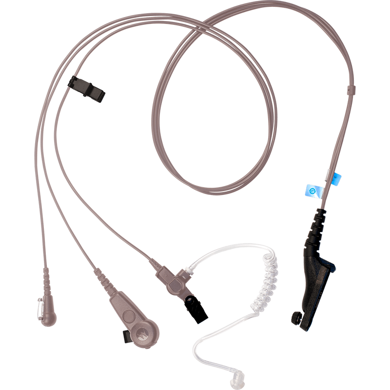 Motorola-Accessory-PMLN6124 IMPRES 3-Wire Kit - Beige-IMPRES 3 Wire Surveillance Kit, with Translucent Tube, Beige - FM / UL Approved-Radio Depot