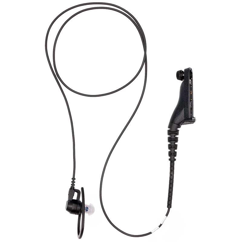 Motorola-Accessory-PMLN6125 Receive Only Surveillance Kit - Black-Receive Only Surveillance Kit, Black (single wire) - FM / UL Approved-Radio Depot