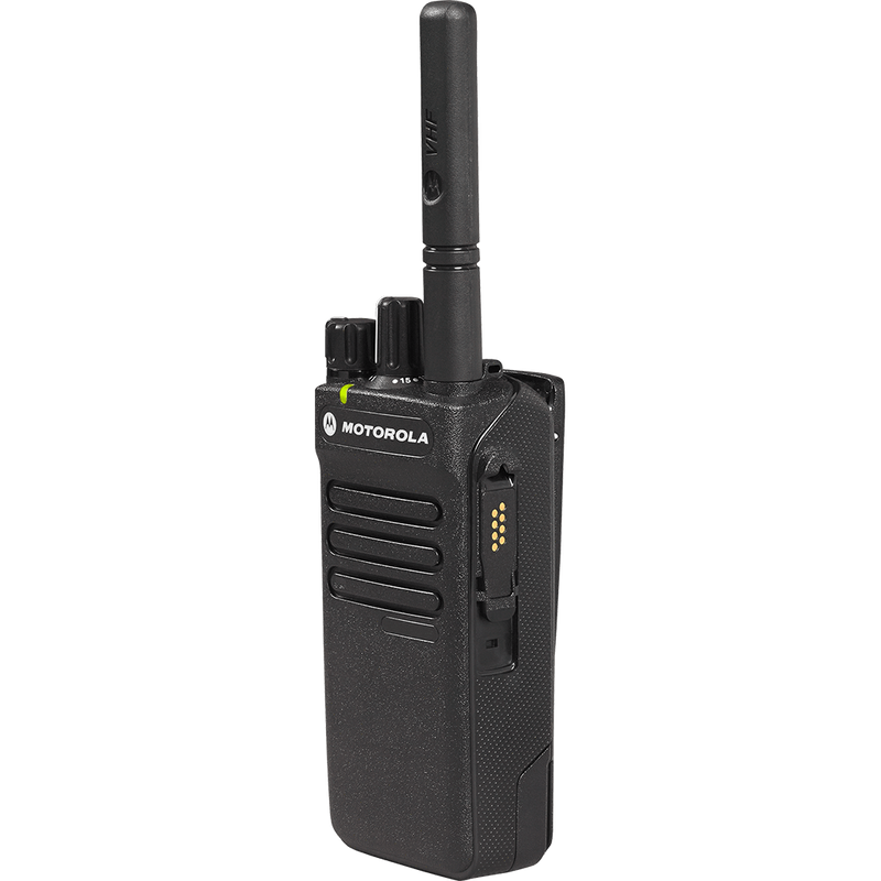 Motorola-Two-Way Radio-XPR3300e - UHF-With this dynamic evolution of MOTOTRBO digital two-way radios, you're better connected, safer and more efficient. The XPR 3000e Series is designed for the everyday worker who needs effective communications. With systems support and loud, clear audio, these next-generation radios deliver cost-effective connectivity to your organization. Need the VHF version? Click to shop XPR3300e - VHF-Radio Depot