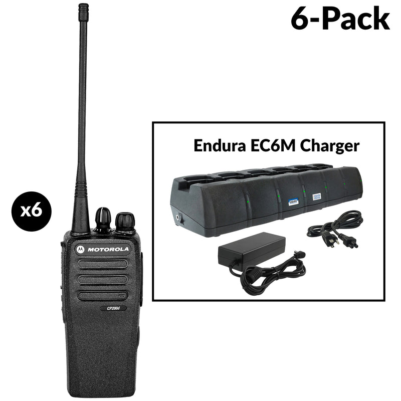CP200D six radio bundle with 6 bank charger