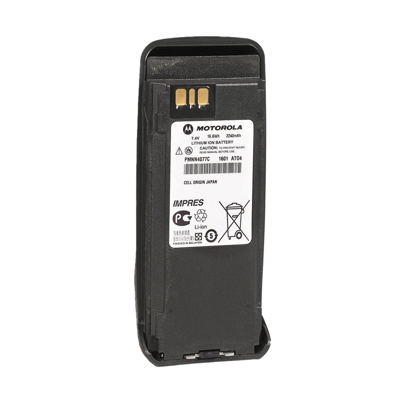 Front view of the Motorola-Accessory-PMNN4077 2,200 mAH Li-ion Battery. Compatible with Motorola XPR 6000 Series Radios.-Radio Depot
