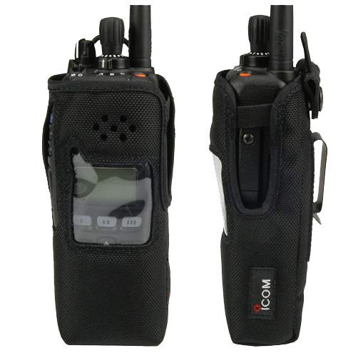 Icom-Accessory-ICOM NCF9011S CLIP Carry Case-ICOM NCF9011S CLIP Carry Case, Nylon with metal clip and cutout for display equipped radios. Radio shown not included.-Radio Depot