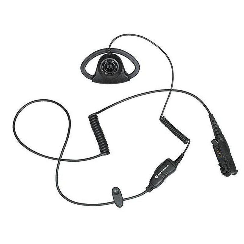 Motorola-Accessory-PMLN6757 Adjustable D-Style Earpiece-Adjustable D-style earpiece with in-line microphone and push-to-talk, black-Radio Depot