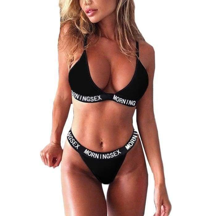 2 PCS Sexy Thong Push Up Bra and Underwear Panty and Bra Set - Bibra.Store