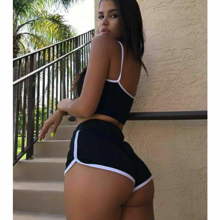 2019 New Style Fashion Hot Women Sexy Patchwork Yoga Suit Workout Sports String Vest Short Pants  Athletic Short Sets - Bibra.Store