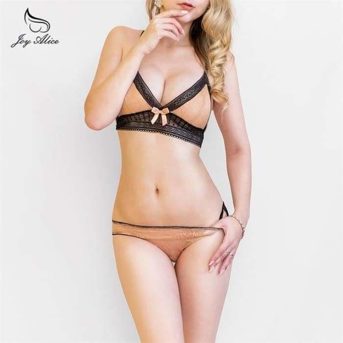 2020 NEW Sexy Intimates Bra Set wire free Underwear Lace Lingerie Push Up bralette Comfortable Bra and panty Sets - Bibra.Store