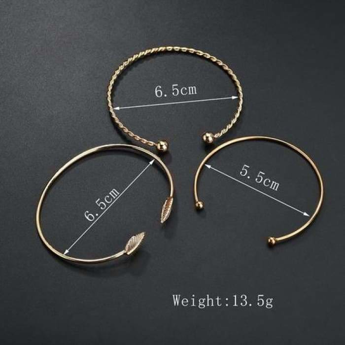3pcs Women Stainless Steel Screw - Jewelry & Watches