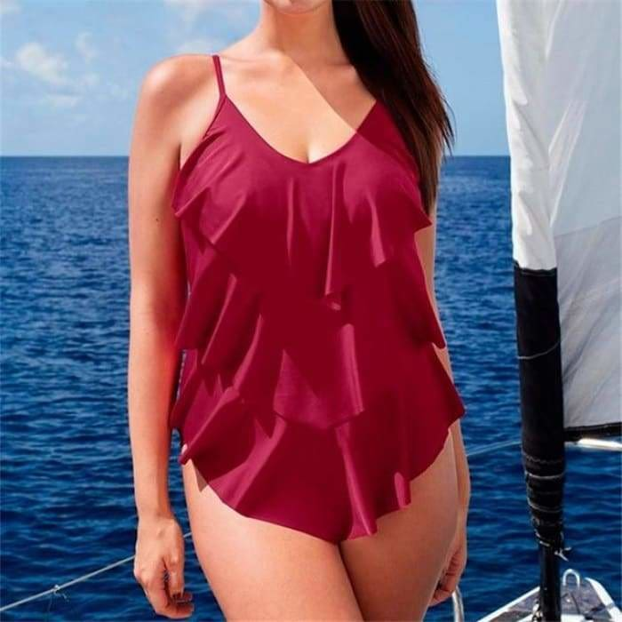 5XL Large Big Plus Size Swimwear For Women Sexy One Piece Swimsuit 2019 - Bibra.Store