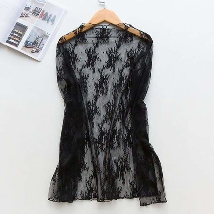 Black white off shoulder lace Nightgown Women Sexy Spaghetti Strap Patchwork Lingerie Dress Lace Sleepwear Sleepshirts Size S-XL - black