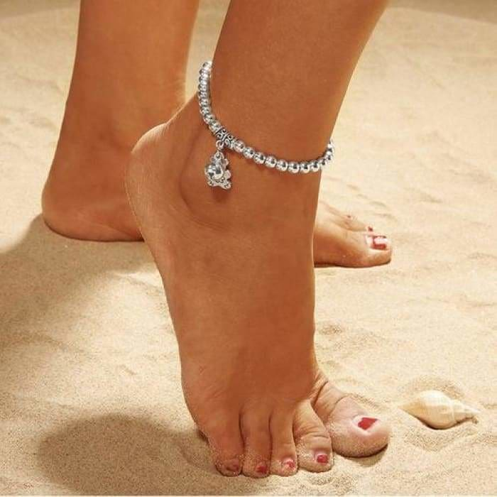 Double Chain Bell And Bear Anklet - Bibra.Store