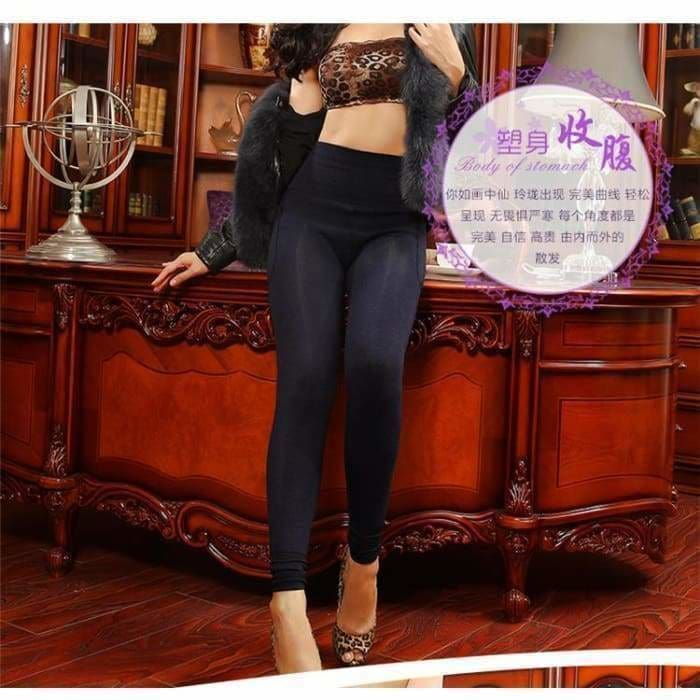 Feilibin Winter Women Leggings Thick Winter Warm Pants High Waist Slimming Thicken High Elastic Womens Warm Velvet Leggings - activewear