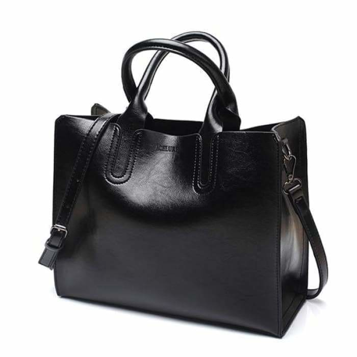 Leather Handbags Big Women Bag High Quality Casual Female Bags - Bibra.Store