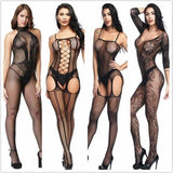 Lingerie Teddies Bodysuits hot Erotic lingerie open crotch elasticity mesh body stockings hot  sexy underwear costumes