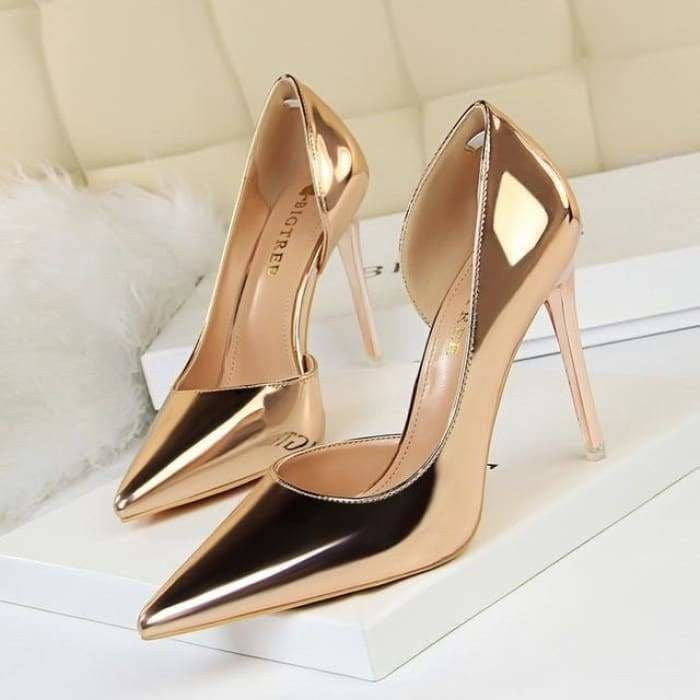 New Patent Leather Fashion and Office Sexy High Heels Shoes for Women's - Bibra.Store