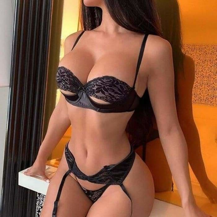 Sexy-Lingerie G-string set - Black Suit / M - lingerie