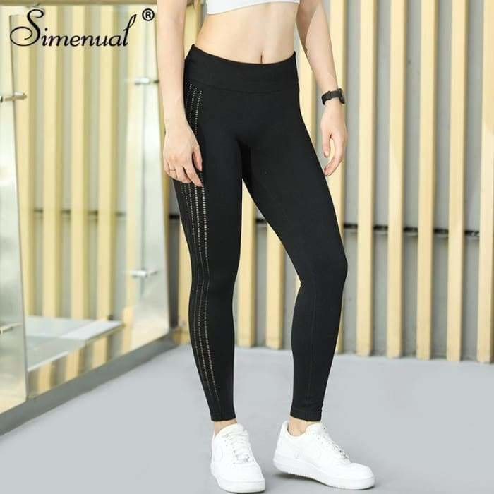 Simenual Sporting leggings for women 2018 polyamide bodybuilding fitness legging push up jeggings activewear athleisure pants - activewear
