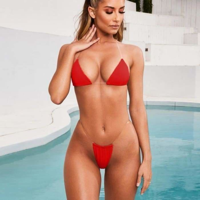 Summer Bikini Sexy Push-Up Padded Lace Up Swimwear and Beachwear Set Two Piece Swimsuit - Bibra.Store