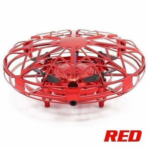 UFO Toys Infrared Sensing Control Hand Flying Aircraft Anti-collision Hand-operated Quadcopter - Red - tools