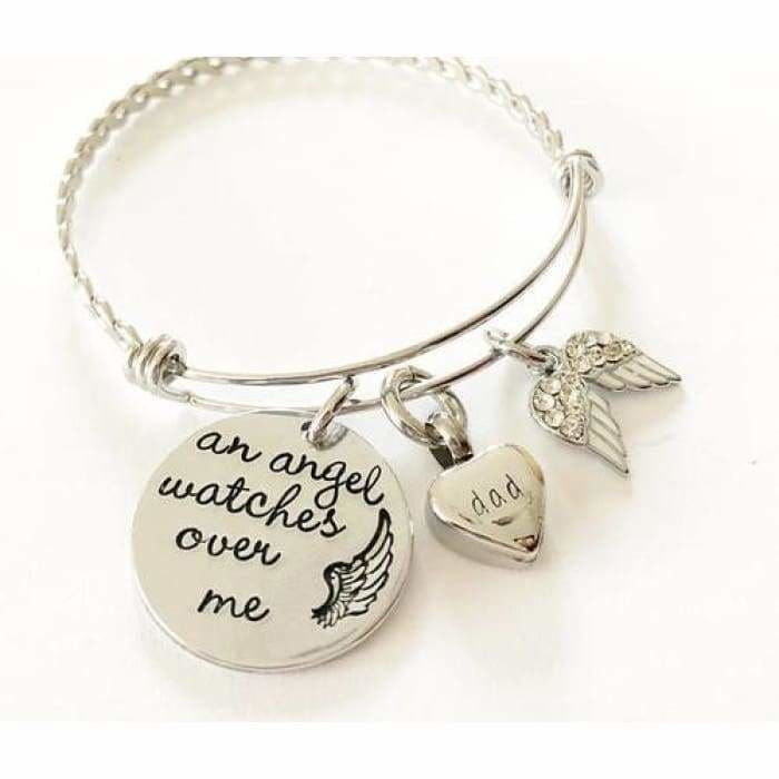 Urn bracelet - Hand stamped bracelet - Loss - Jewelry & Watches