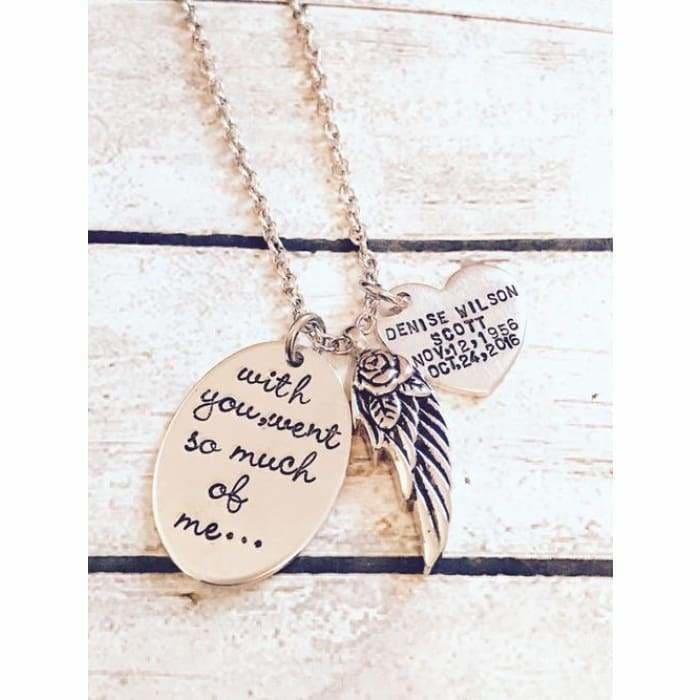 Urn necklace - Hand stamped necklace - Loss - Jewelry & Watches