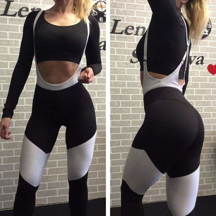 Womens One-pieces Sports Suit Set Yoga Workout Gym Fitness Jumpsuit Leggings Pants Athletic Clothes Crossfit Running Sportwear - activewear