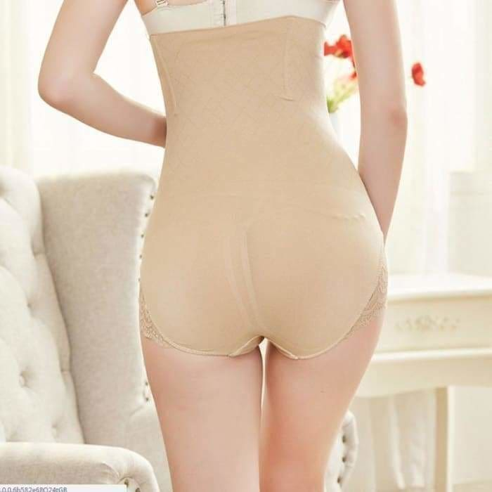 Womens Shapewear Seamless Briefs Butts Lifter High Waist Body Shaper Panties Lingerie Intimates Apricot BlackNew - Bibra.Store