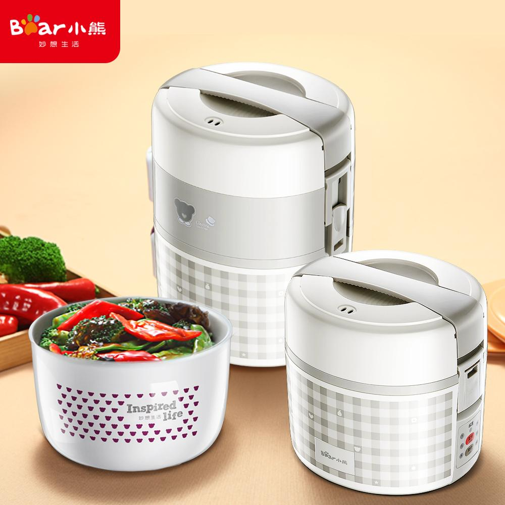Bear DFH-A20D1 2L Electric Lunch Box/ Mini Rice Cooker/ 2-Layer with 3 Bowls/ Timer/ SG Plug/ English Manual/ 1 Year SG Warranty