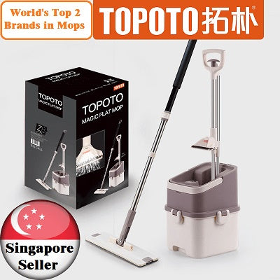 TOPOTO Z8 MOP/ FREE 1 extra mop heads (Total 3 mop heads in the box)