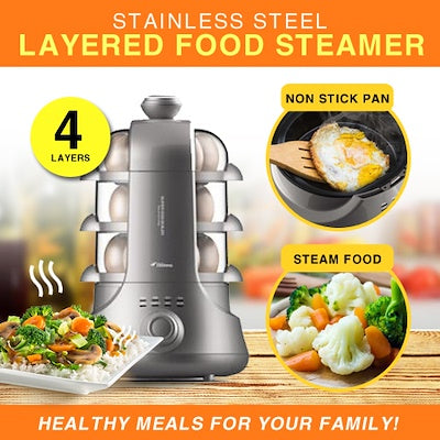 Deerma ZD02 4-layer Egg Steamer/ Big Capacity/ SG Plug/ 1 Year Warranty