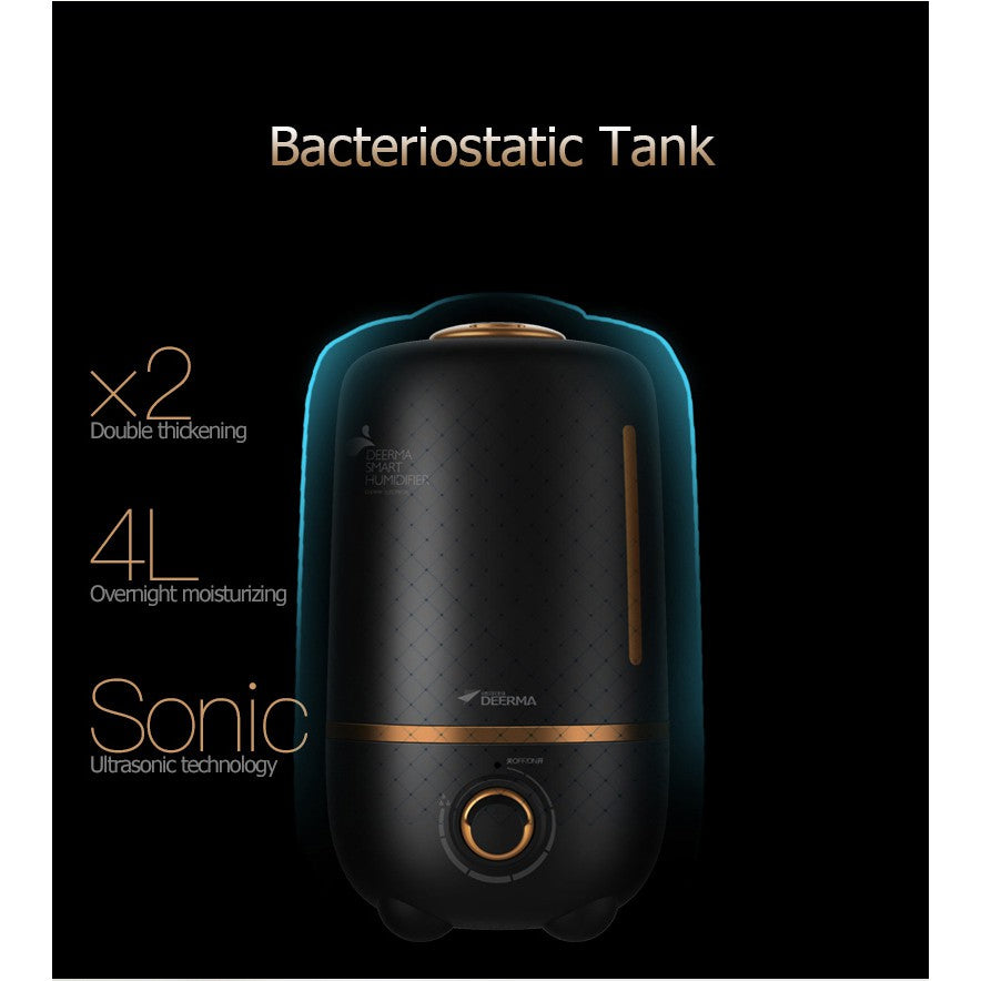 Deerma F450 Black Ultrasonic Humidifier/5L Big Capacity/ SG Plug/ 1 Year Warranty