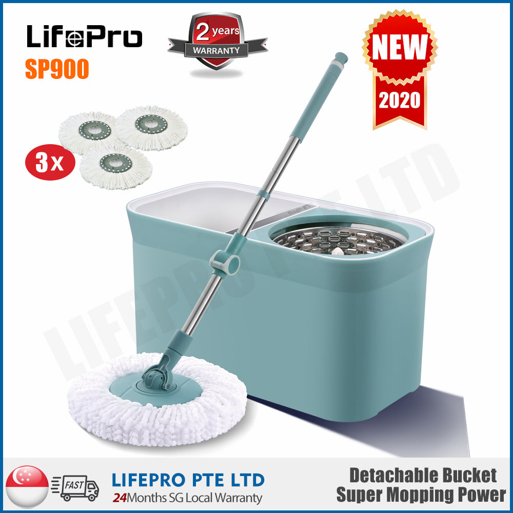 LIFEPRO SP900 Magic Mop/ Spin Mop/ Premium Quality/ 3 Mop Heads Included