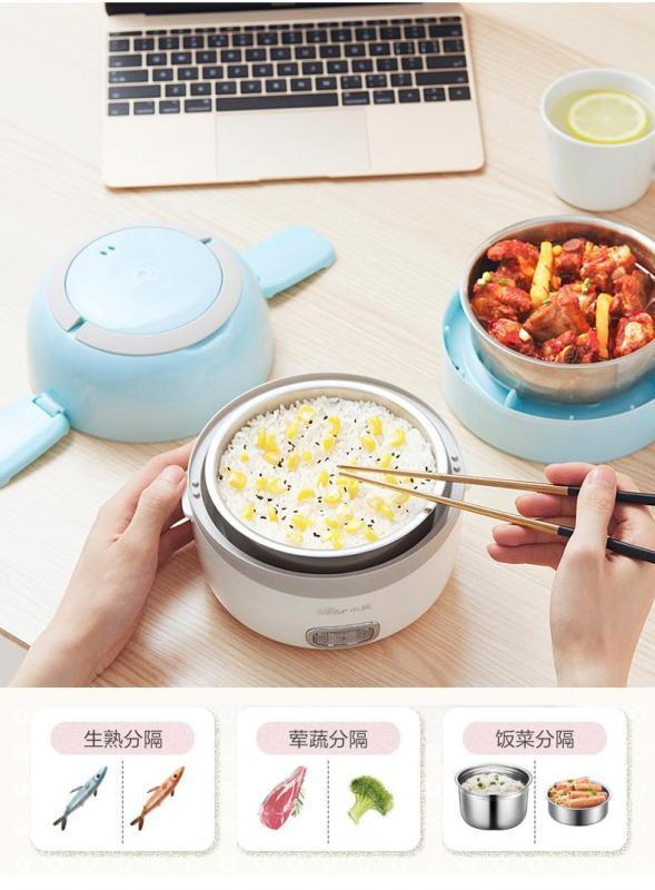 Bear DFH-B14E2 1.4L Dual-layer Electric Lunch Box/ Mini Rice Cooker/ SG Plug/ 1 Year SG Warranty