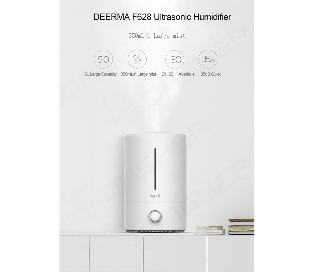 Deerma F628 Ultrasonic Humidifier 5L Big Capacity/ SG Plug/ 1 Year Warranty