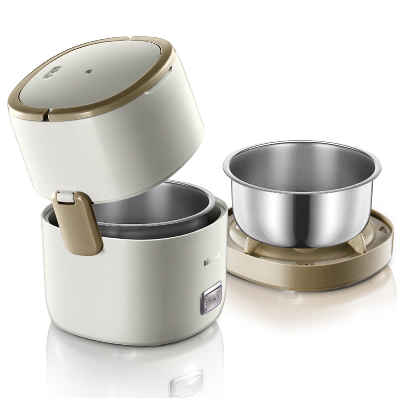 Bear DFH-A15D1 1.5L Electric Lunch Box/ Mini Rice Cooker/ 2-Layer with 2 Bowls/ SG Plug with Safety Mark/ 1 Year SG Warranty
