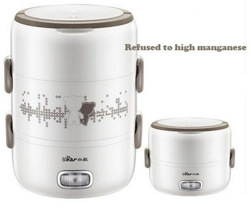 Bear DFH-S2358 2L Electric Lunch Box/ Mini Rice Cooker/ 2-Layer with 3 Bowls/ SG Plug with Safety Mark/ 1 Year SG Warranty