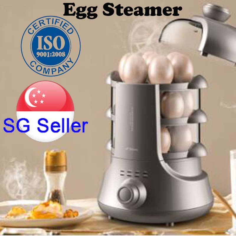 Deerma/德尔玛 ZD02 4-layer Egg Steamer/ Electric Food Steamer/ Big Capacity/ SG Plug/ 1 Year Warranty
