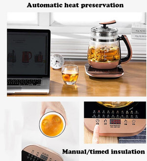 LifePro EHT-818 Multi-functional Electric Healthy Glass Teapot/Golden with Filter/ English Panel/SG Plug/1 Year Warranty