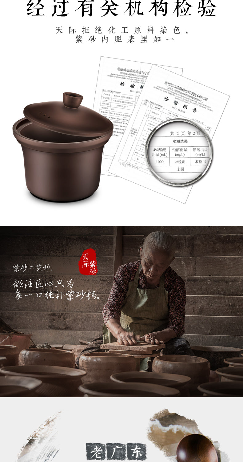 天际/TONZE DGD40-40AZWD 4L Single Pot Slow Cooker/ Purple Sand/ SG Plug/ 1 Year SG Warranty