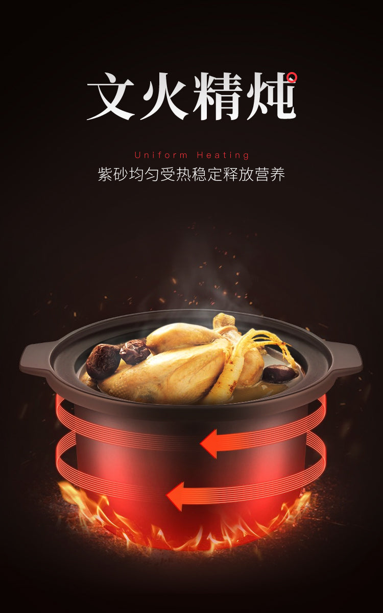 九阳/Joyoung DGD2001AM 2L Single Pot Slow Cooker/ Purple Sand/ SG Plug/ 1 Year SG Warranty
