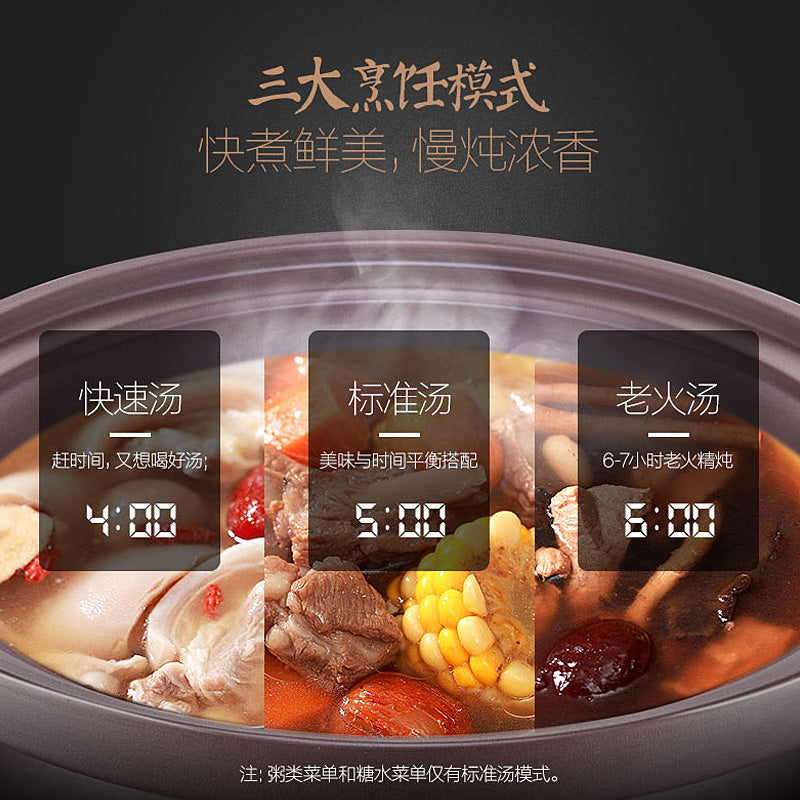 Midea/美的 WTGS401 4L Single Pot Slow Cooker/ SG Plug/ 1 Year SG Warranty